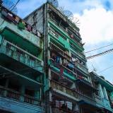ダウンタウンの集合住宅@ミャンマー