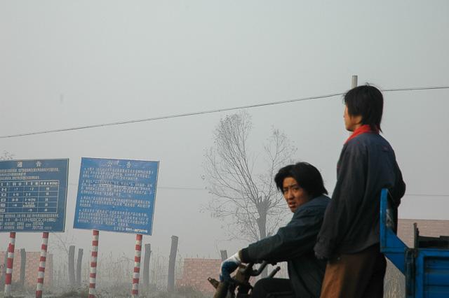 イメージ写真(北京を出ると荒涼とした風景が続く@河北省)