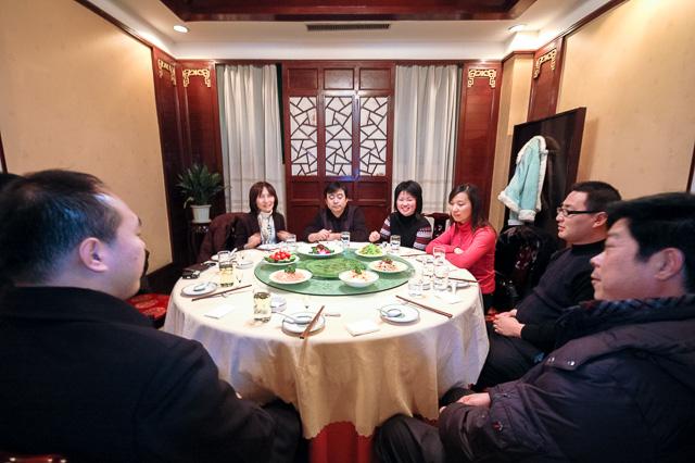 食事に招待された@河南省濮陽