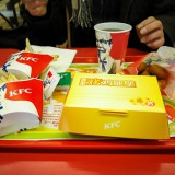 KFCで食事@北京前門店2006