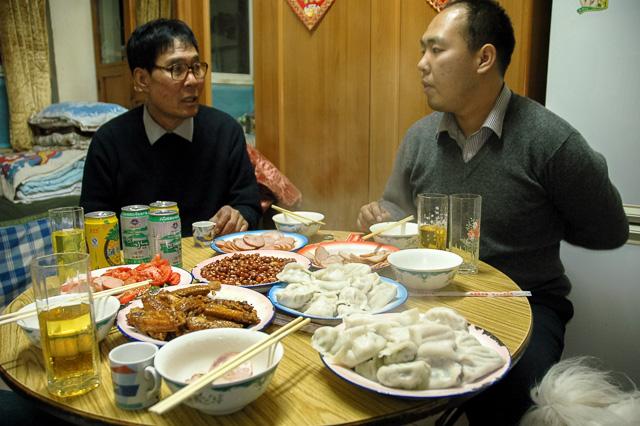 王家の食卓(来客のとき)@北京前門2006