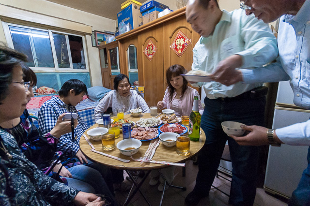 家での食事に招かれて@北京