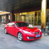 ハネムーンに向かう車@北京宣武門のホテル