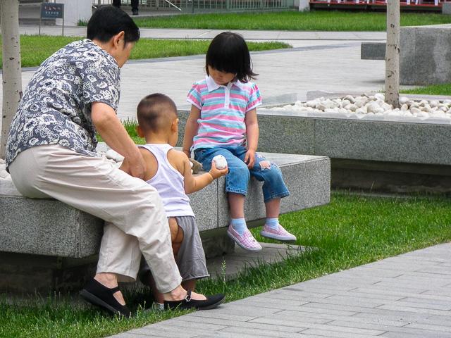 スボンが破れているわけではありません@北京建外SOHO