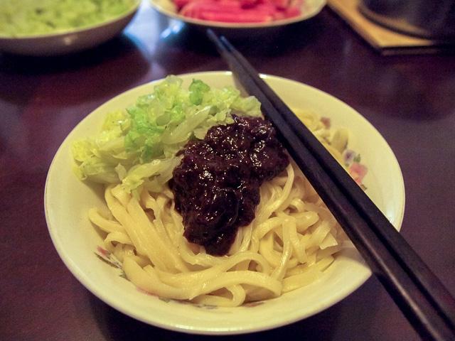 炸醤麺(ジャージャー麺)の作り方16@北京王さんち