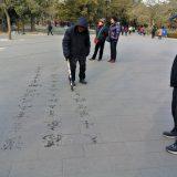 書を楽しむ人@北京景山公園