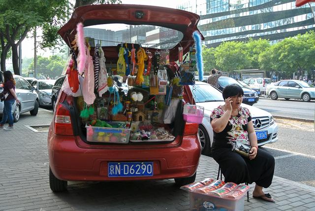 どこでも商売をするのも中国人の特徴@北京三里屯
