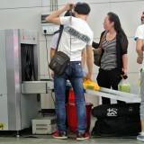 X線検査装置で荷物検査@北京の地下鉄