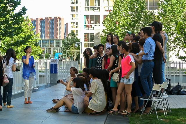 イベントの後で記念撮影@北京建外SOHO