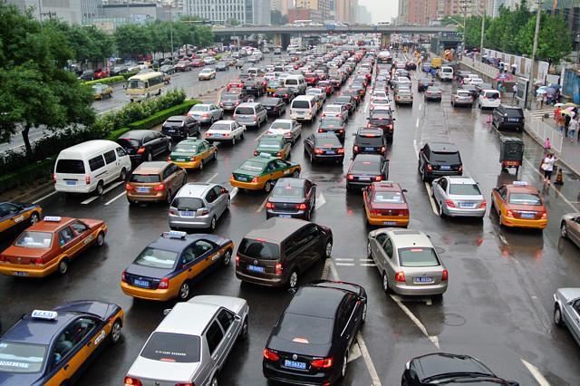 タクシー(色)は3種類@北京