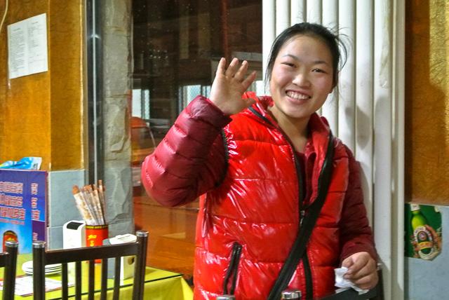 角の食堂のおねえさん@北京団結湖