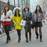 冬のミニスカートも普通@北京国貿