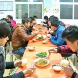 候補生の夕食@北京の派遣機関