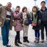 なぜか一緒に記念写真@上海人民広場