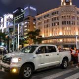 タンドラに乗る若いふたりがかっこいい@東京銀座