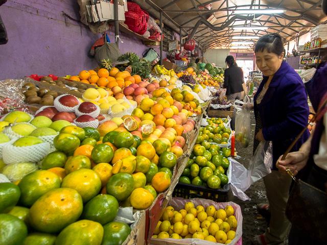 永安里の市場ではお得意様@北京